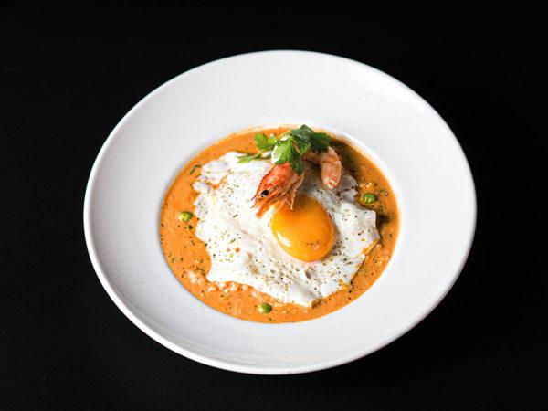 Chupe de langostinos. Restaurante peruano Inti de Oro Castellana.